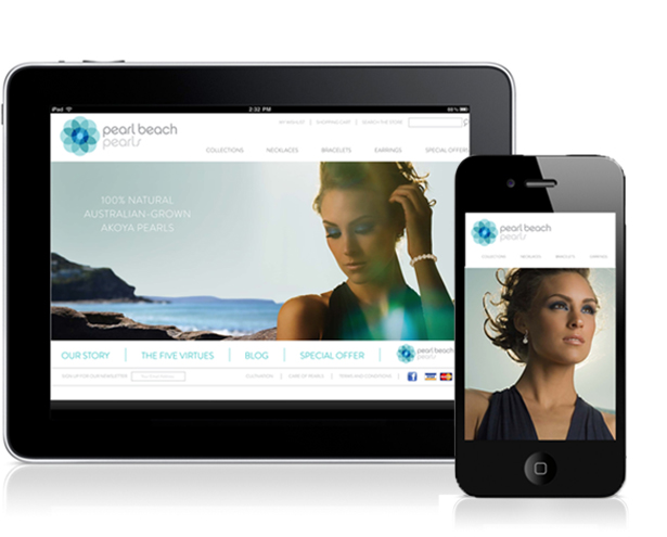 Pearl Beach Pearls Responsive Website