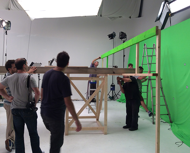 Knauf TVC: studio set-building