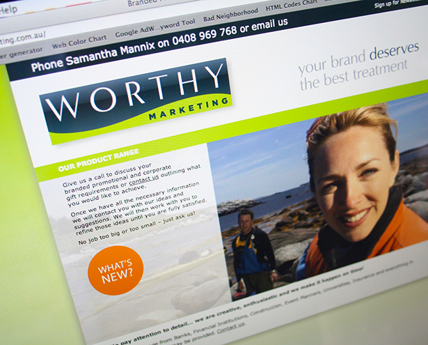 Worthy Marketing Website Homepage
