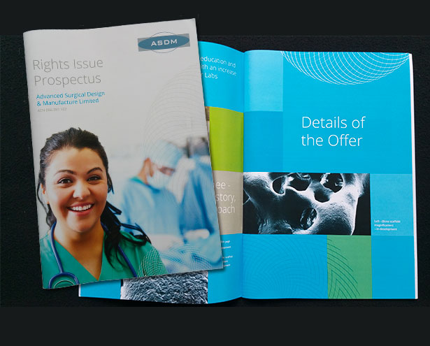 ASDM Rights Issue Prospectus Cover and Spread