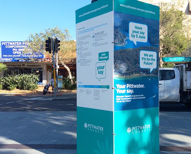 FFTF Mona Vale Village Square Information Kiosk