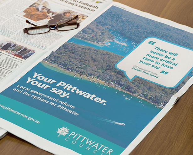 FFTF Pittwater Council Newspaper Full Page Ad