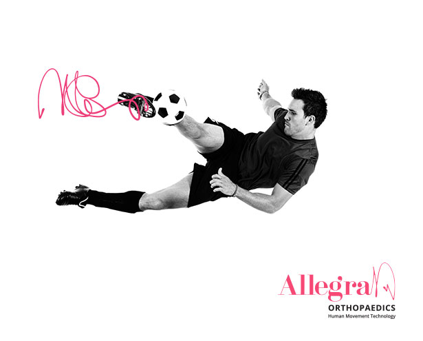 Allegra Brand Soccer Player Hero